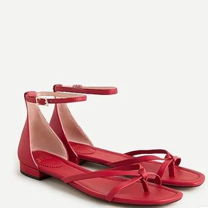 NEW! Red Strappy Summer Sandals
